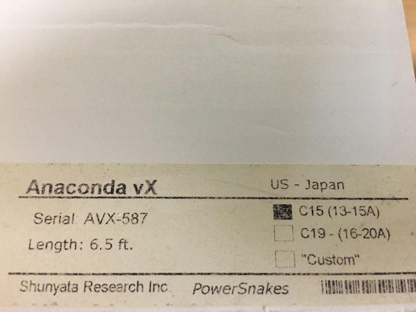 Shunyata Research Anaconda VX 15amp,6.5ft