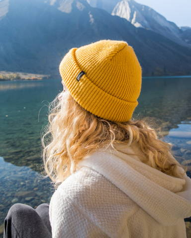 Yellow Beanie for Traveling