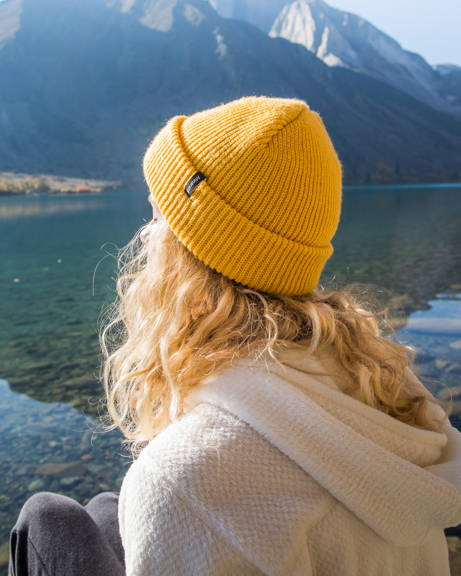 Yellow Beanie for Camping