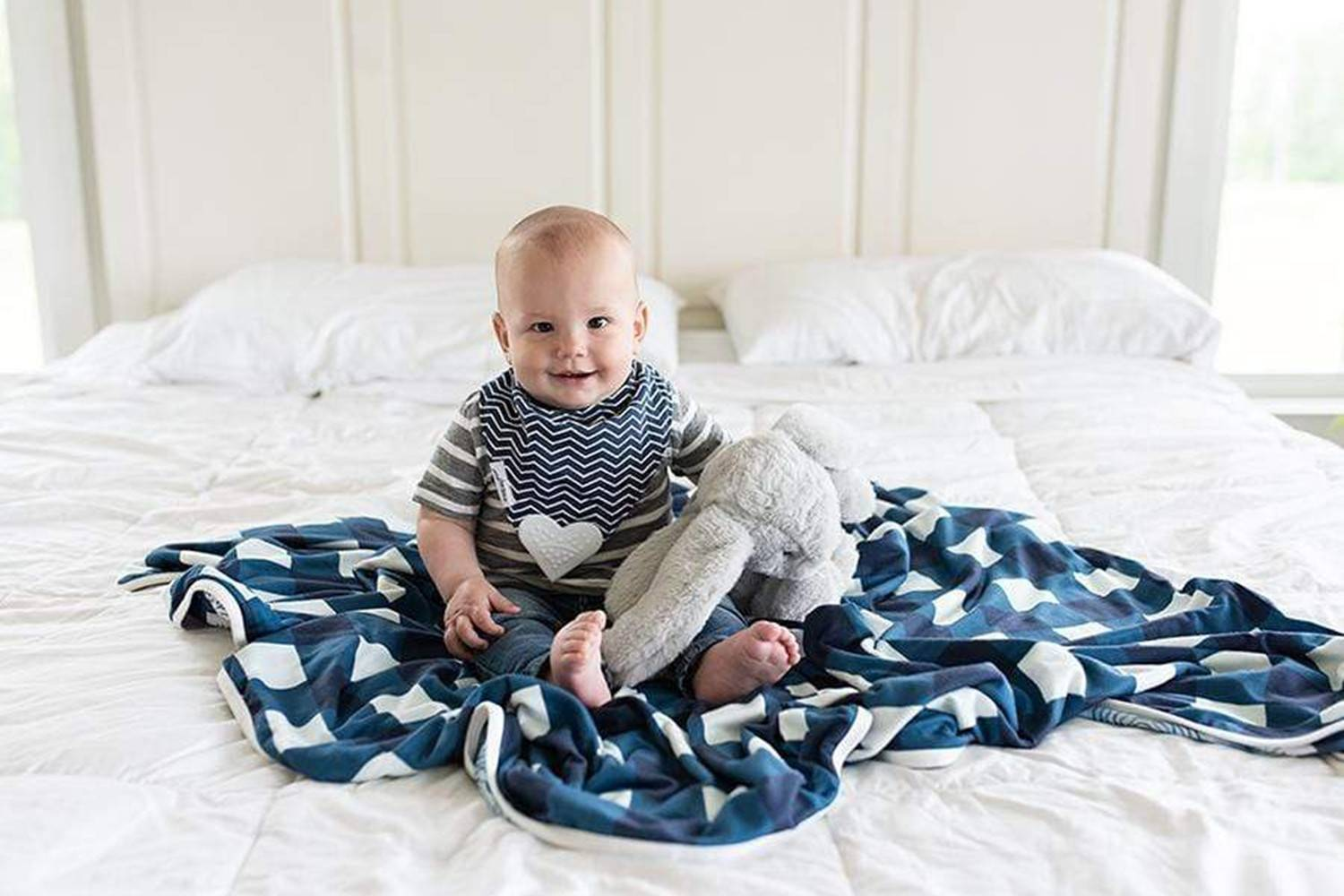 Super Soft Baby Bibs with Weighted Front, Swaddler Sets and More - Lavender-Life.com