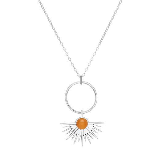 Подвеска SUNSET - Персиковый лунный камень