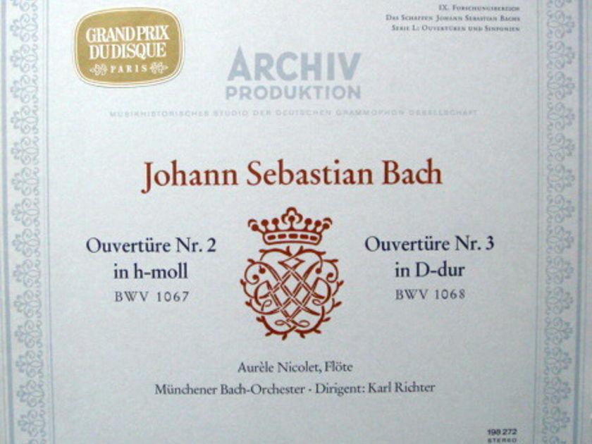 1st Press Archiv / RICHTER, - Bach Overtures No.2 & 3,  MINT!