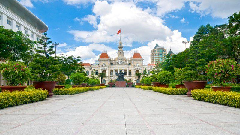 Statue in Ho Chi Minh, Vietnam