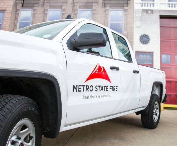 Vinyl Spot Graphic/Decals - Metro State Fire Vehicle Graphic