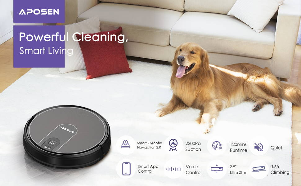 Aposen robotic vacuum cleaner brings you a smart life