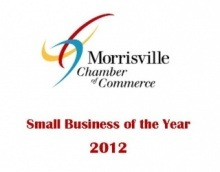 Morrisville chamber of commerce small business of the year graphic