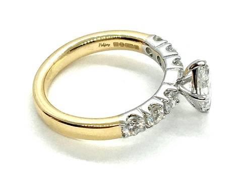 Bespoke marquise cut diamond rings in Surrey - Pobjoy Diamonds