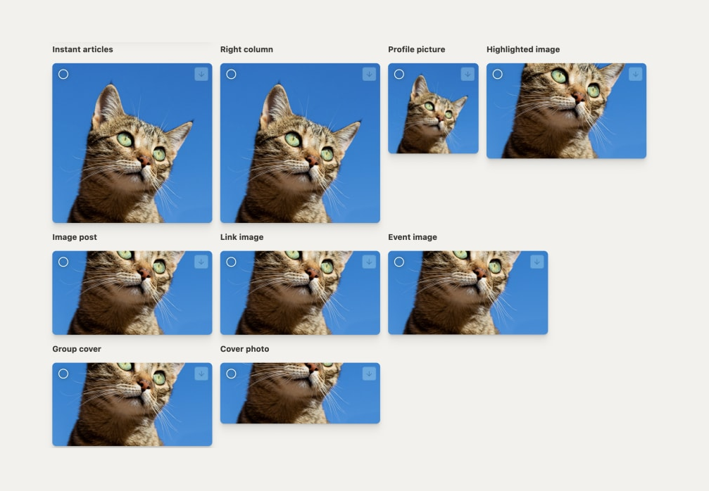 sorting images of various sizes in Pixelhunter