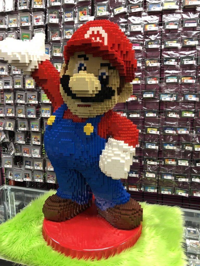 LEGO Mario Sculpture