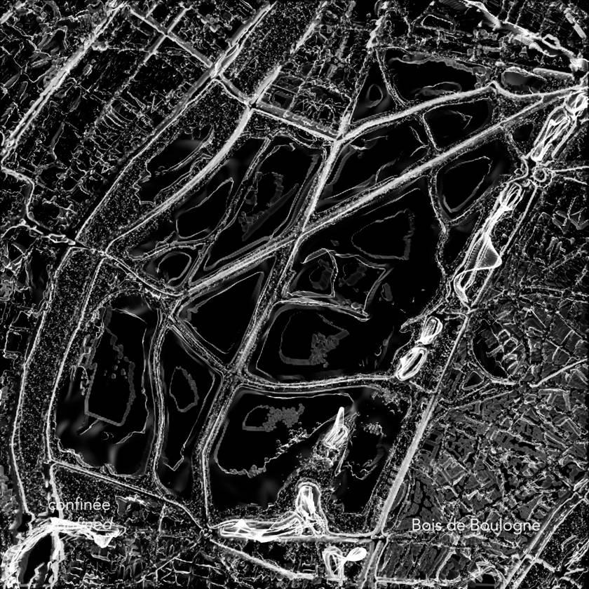 Cartes des Silences - Paris habituelle / confinée