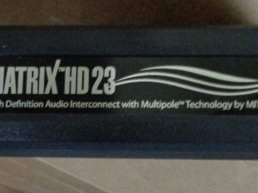 MIT Cables HD Matrix 23 XLR 2.0 meter interconnect