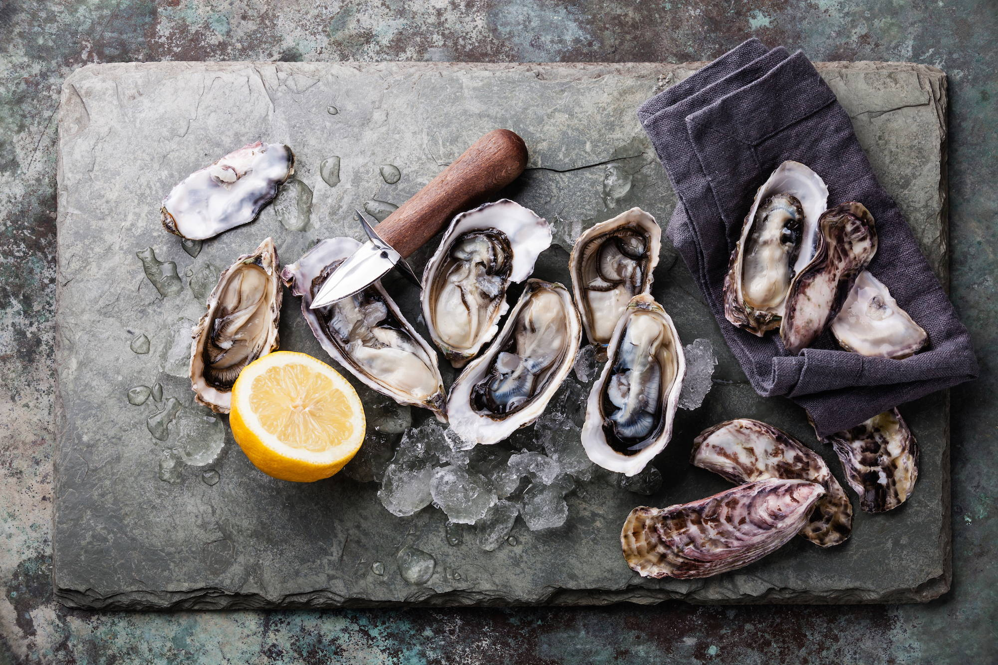 Oysters are a source of zinc, important for sperm and egg cells
