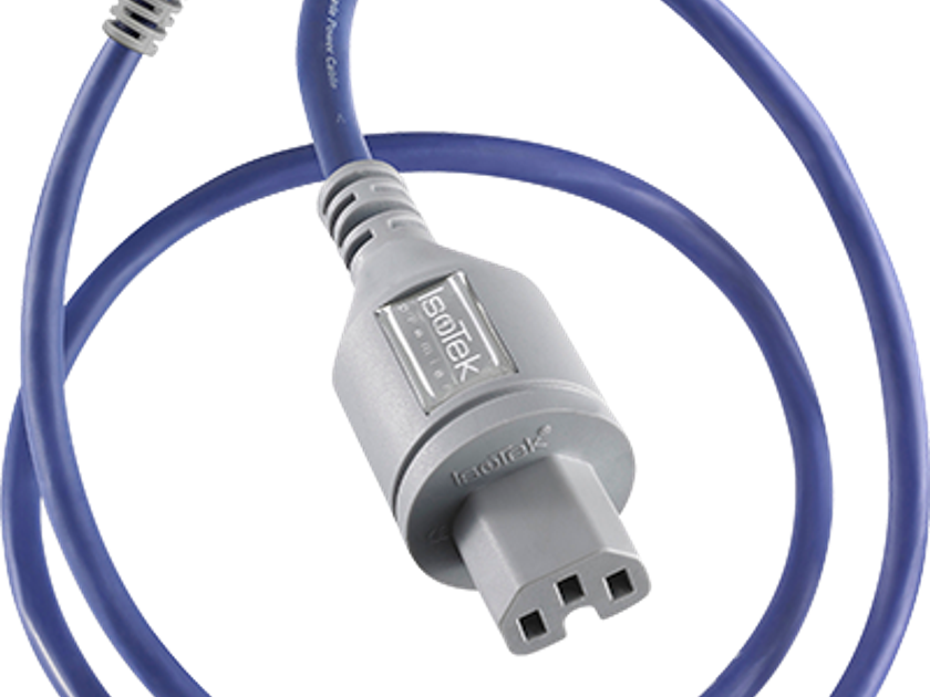 IsoTek  EVO 3 Premier Power Cable 1.5 meter IEC C15 Silver and Copper.