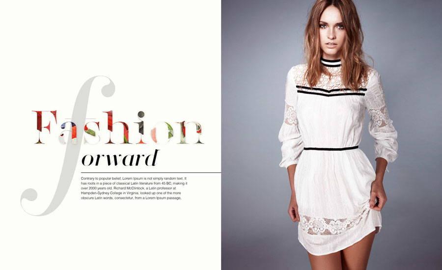 Fashion magazine sexy typography