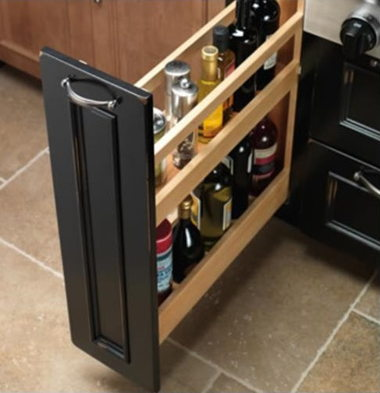 OPTIONAL 9″ BASE PULL OUT PANTRY