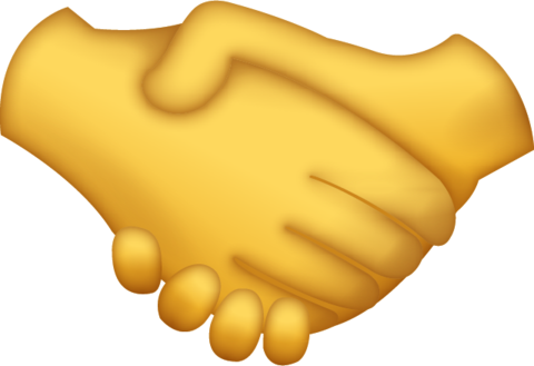 Handshake emoji icon ios10 large