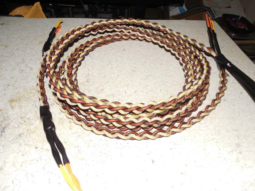 10' Silver/Teflon Bi-wire Woven  Speaker Cables
