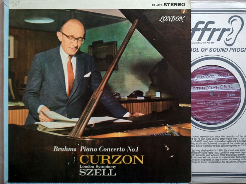 London ffrr/Clifford Curzon/Szell/Brahms - Piano Concerto No.1 / CS 6329 / VG+
