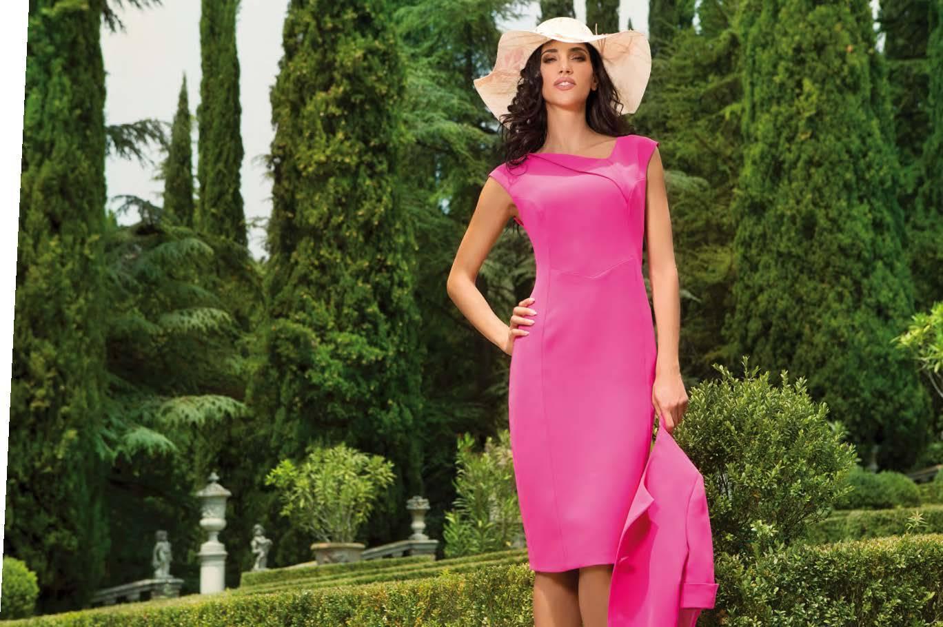 MICHAELA LOUISA 8431 HOT PINK DRESS