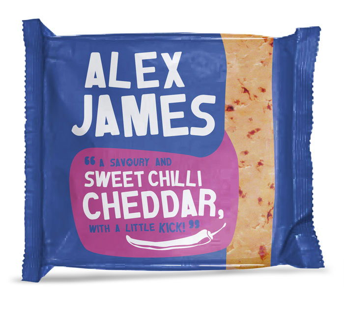 Alex James Cheese Packaging Design Dzinemafia Sweet Chilli