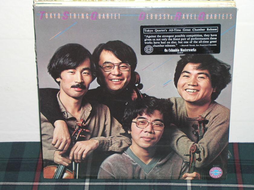 Tokyo String Quartet - Debussy/Ravel Qtets. Columbia STILL SEALED