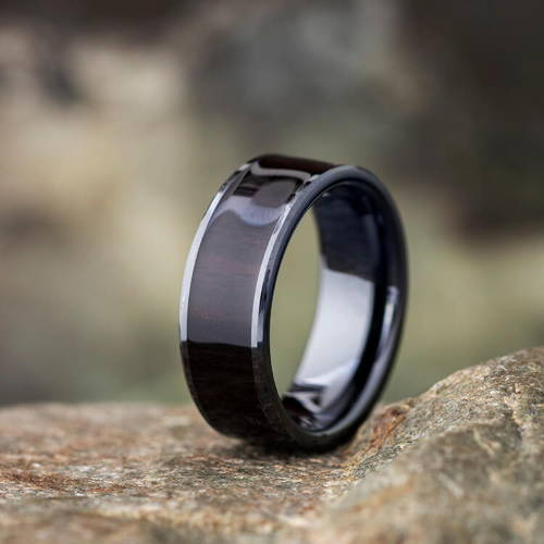 Black Zirconium Rings