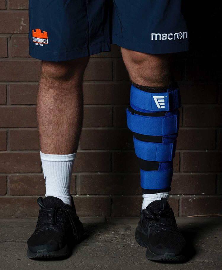 Edinburgh rugby player wearing solushin shin splints treatment