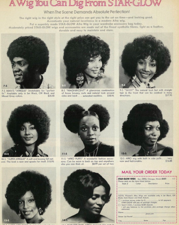 Natural Hair Wig Poster from the 1970s