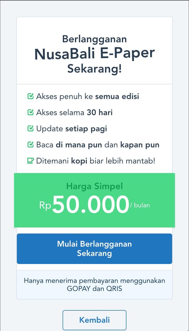 epaper.nusabali.com subscription page