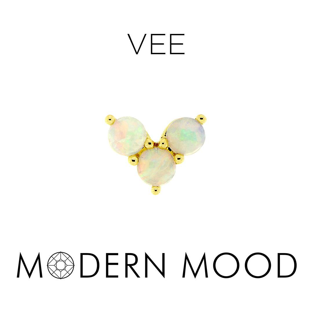vee opal moonstone diamond piercing jewelry