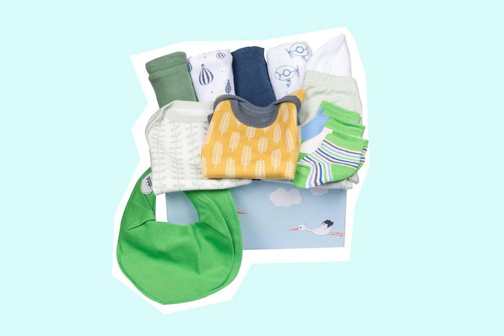 Babybox als Geburtsgeschenk neutral von Taidasbox