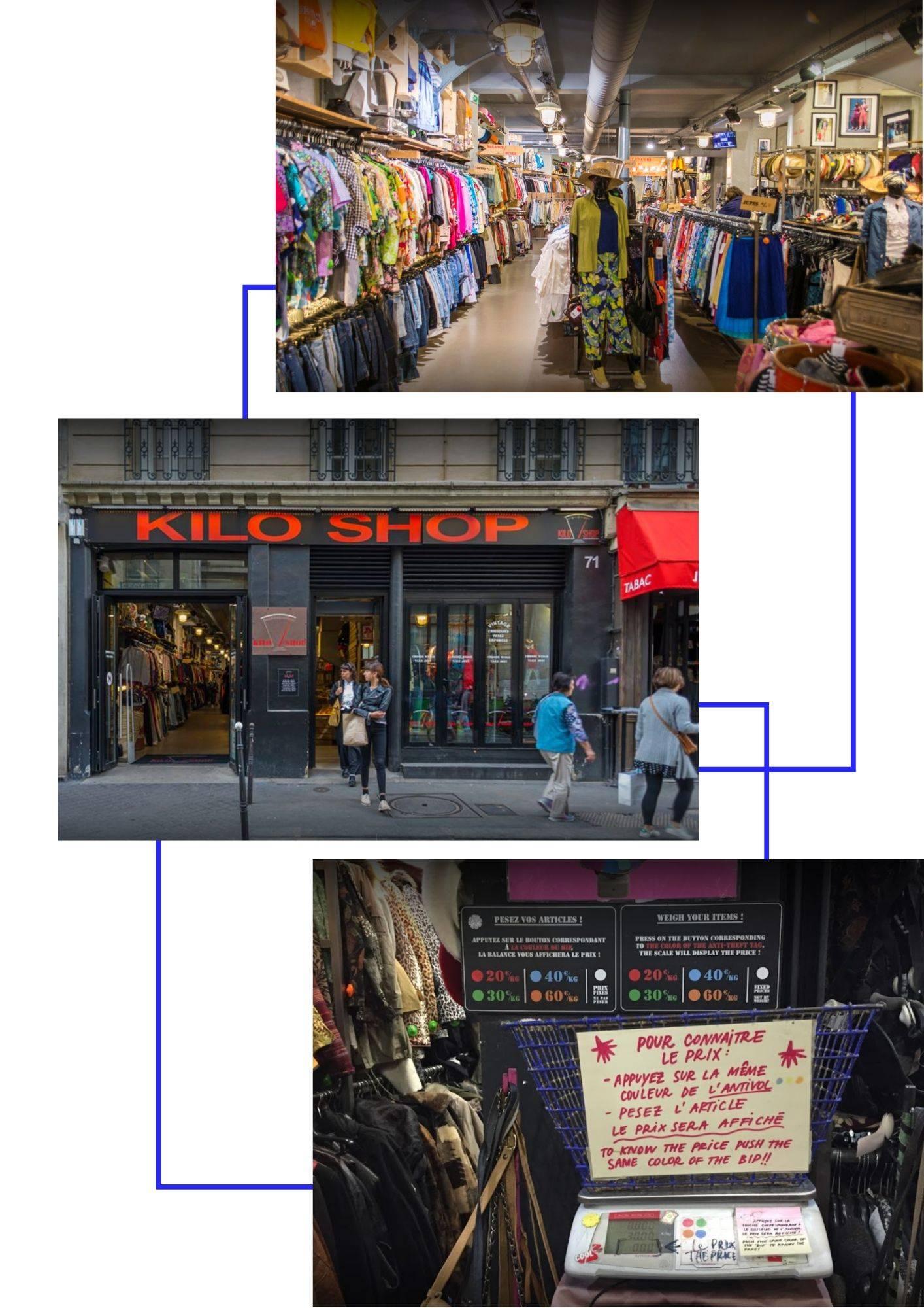 friperie kilo shop paris