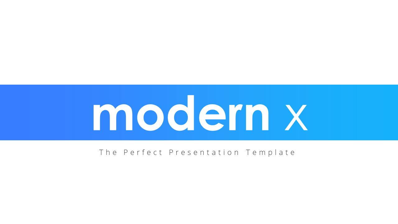 Modern X  Pitch Deck Presentation Template Title Page
