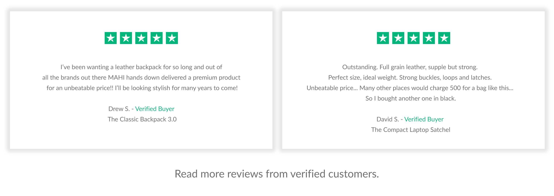 Trustpilot reviews MAHI