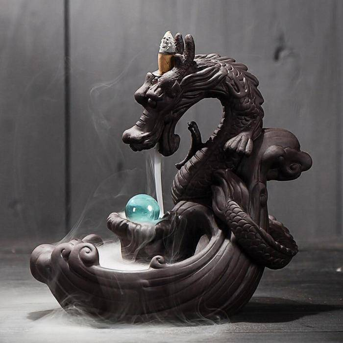 Backflow Incense Burner Dragon