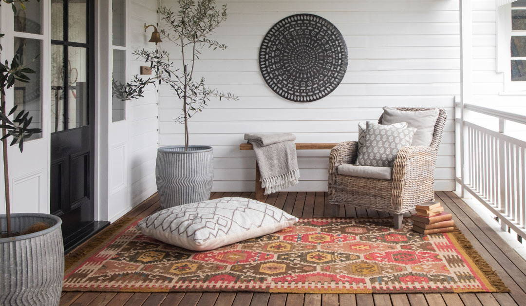 nomad sultan rug on a deck