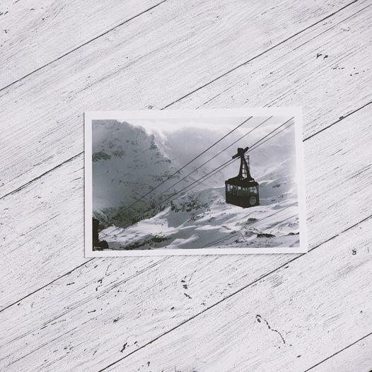 """почтовая открытка с авторской фотографий из серии """"Эльбрус"""""""