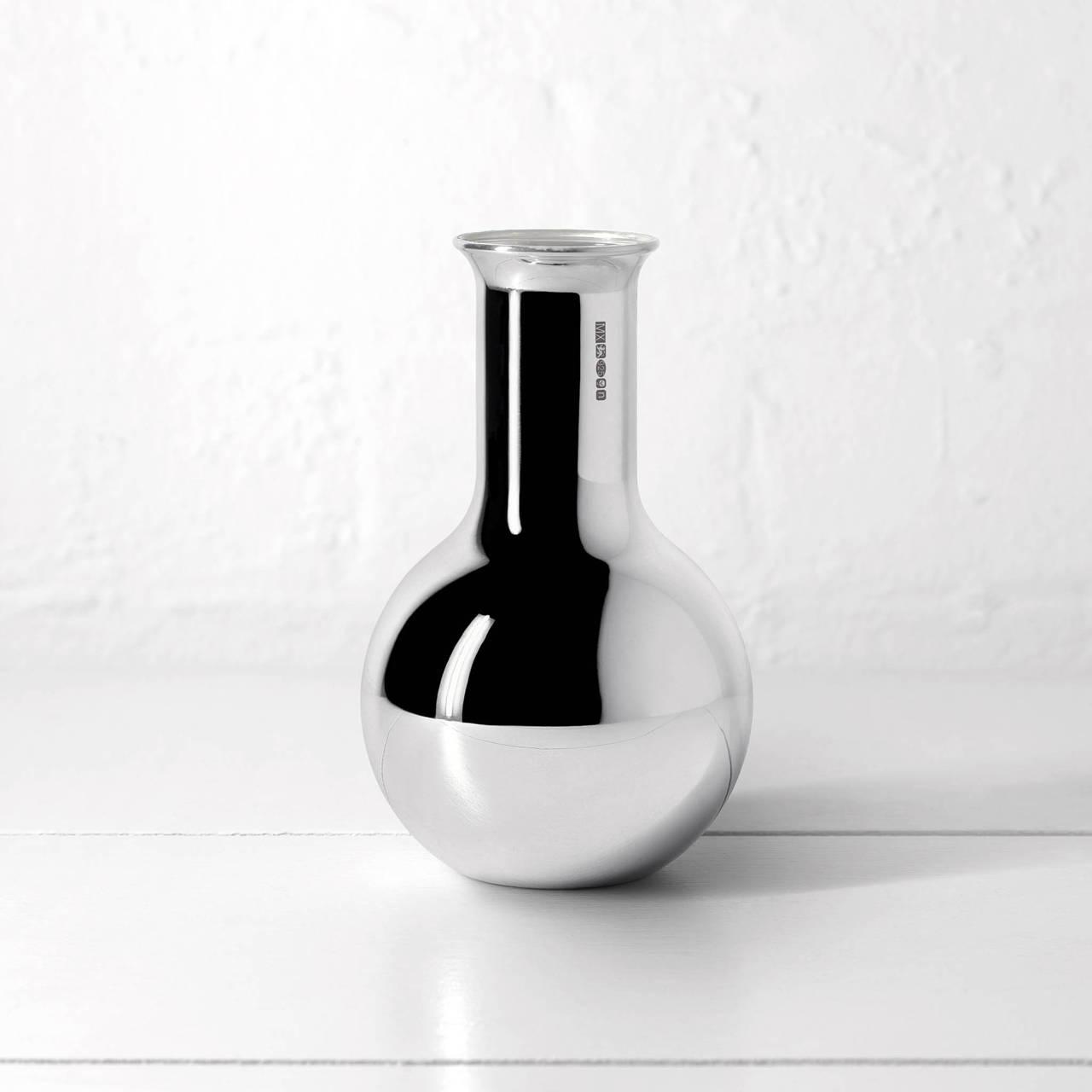 Silver Round Bottom Vase