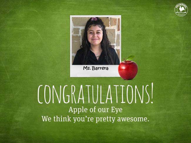 Apple of the Eye, Barrera