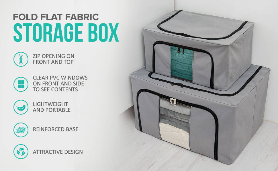 Fold Flat Fabric Storage Boxes
