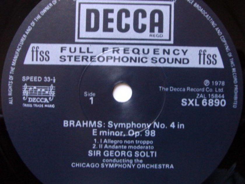 DECCA SXL-NB-ED4 / SOLTI, - Brahms Symphony No.4, MINT!