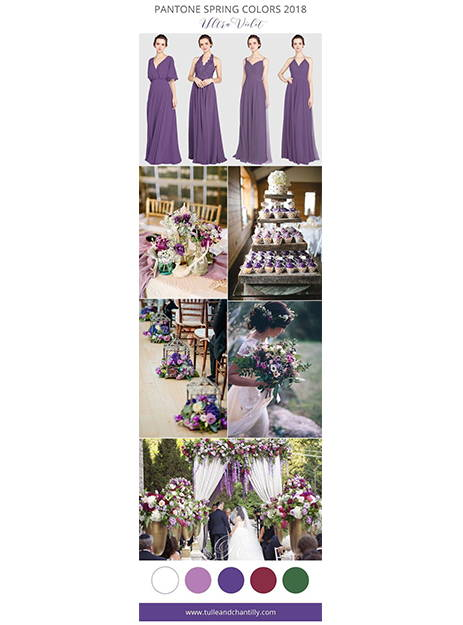 green maroon and violet wedding inspiration