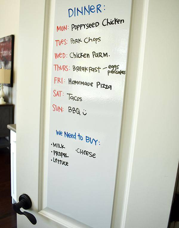 Diy Whiteboard For Pantry Door Wall Dry Erase Sticker