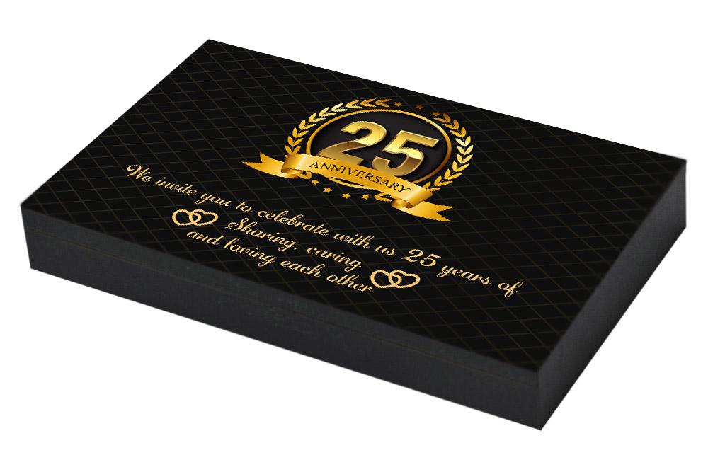 Golden 25th Anniversary Invitation