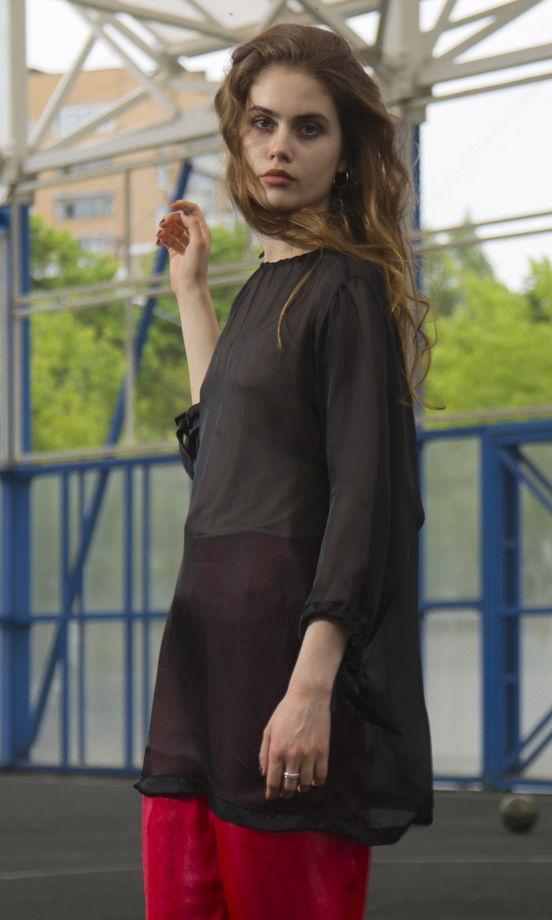 Блуза из тонкого натурального шифона