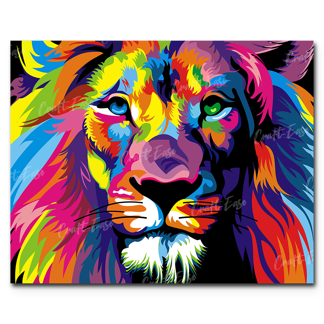 """""""A Lion in Full Colors"""" by Mark Ashkenazi"""