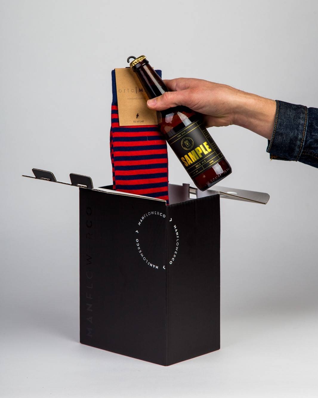 Sock Gift, part of Manflower Co's range of holiday gifts for men.