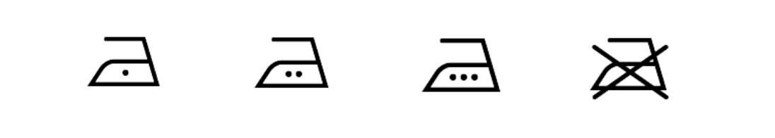 Pflegesymbol Bügelsymbole Hinweis Snocks