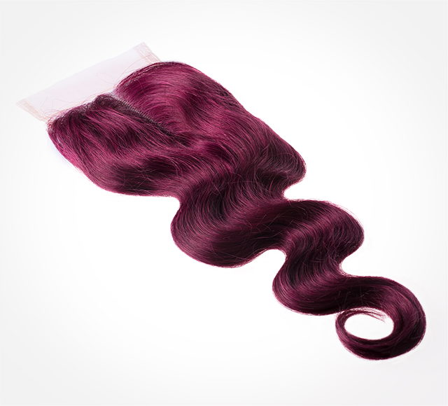 Dyed Virgin Malaysian Body Wave Lace Closure Mayvenn