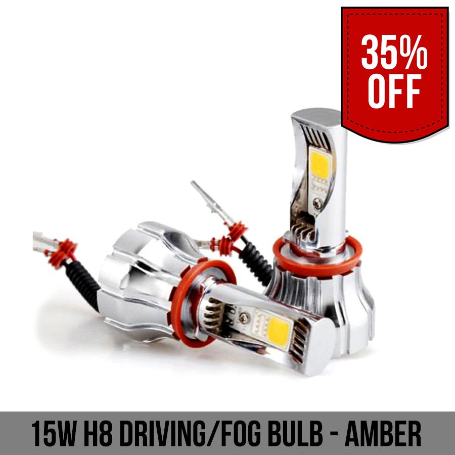 15W H8 Driving Fog Bulb Amber
